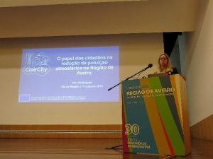ClairCity speaking at the Aveiro Regional Congress
